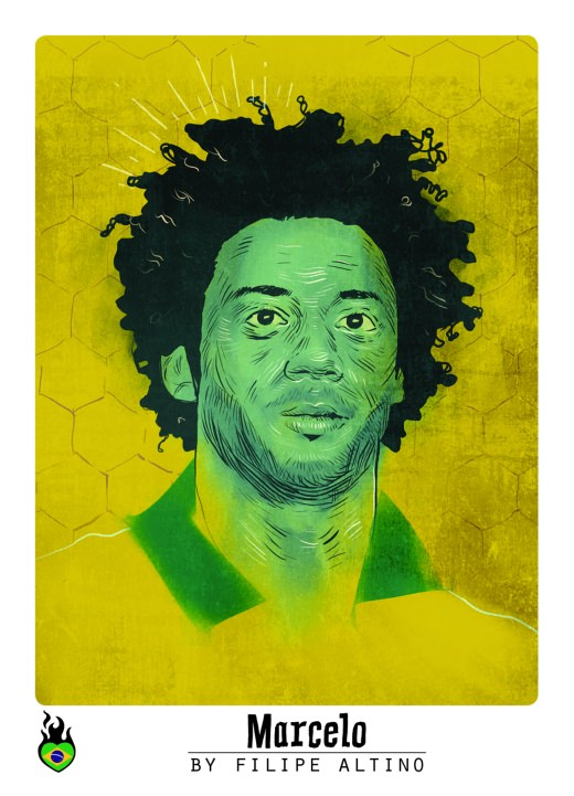 Marcelo Sticker WM 2014