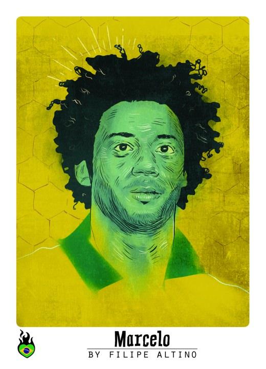 Marcelo Sticker WM 2014