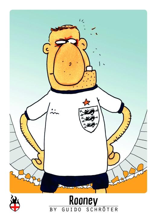 Rooney Sammelbild WM 2014