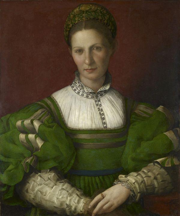 Agnolo Bronzino Bildnis einer Dame in Grün