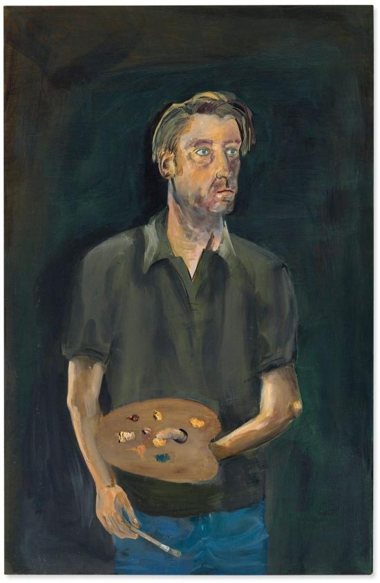 Albert Oehlen Selbstporträt mit Palette