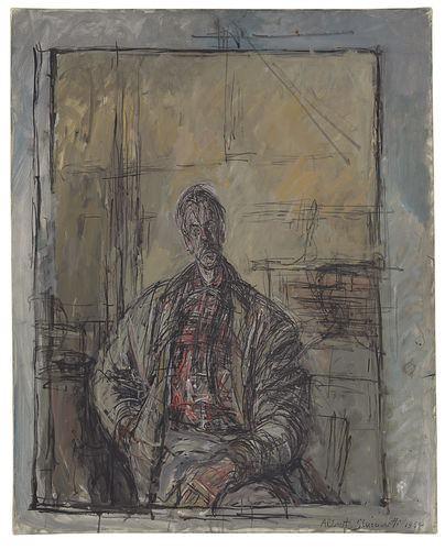 Alberto Giacometti Porträt von Bruder Diego