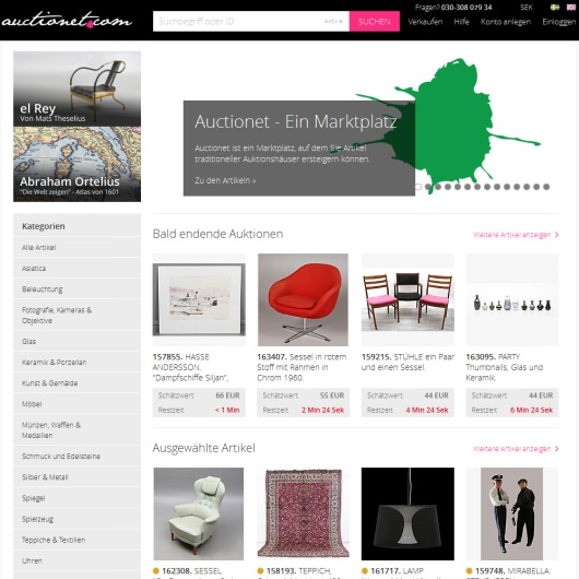 Online Kunstauktionen Auctionet In Deutschland Gestartet