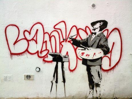 Banksy Hauswand