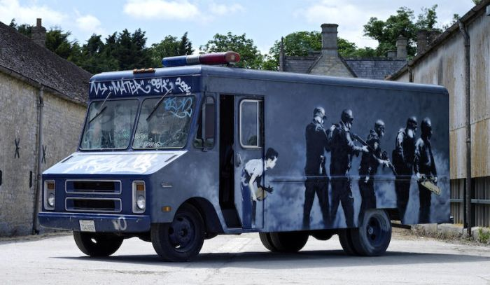 Banksy SWAT Bus