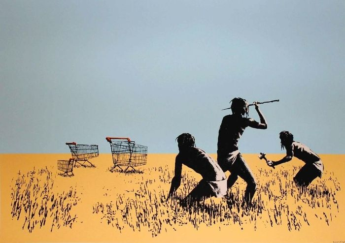 Banksy Trolley Hunters