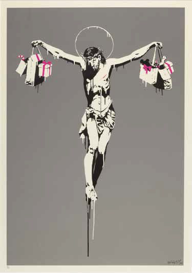 Banksy Christ With Shopping Bags