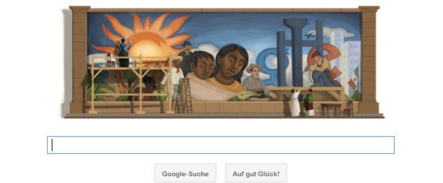 Diego Rivera 125.Geburtstag mit Google Doodle geehrt