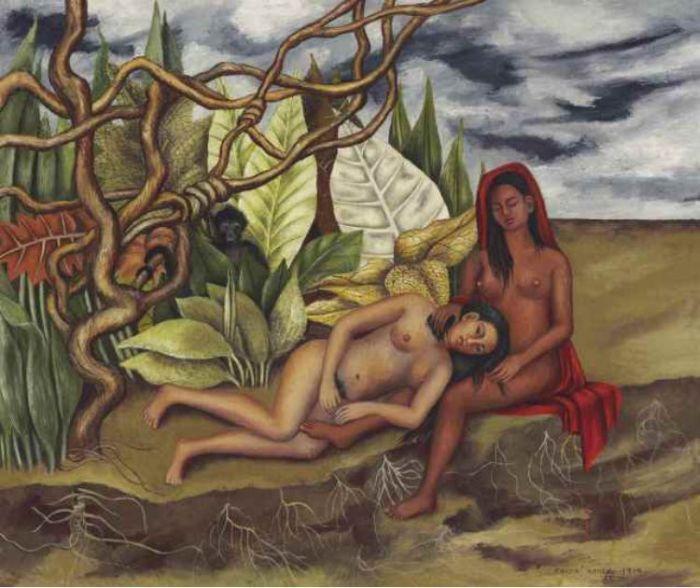 Frida Kahlo Dos desnudos en el bosque - Two Nudes in the Forest