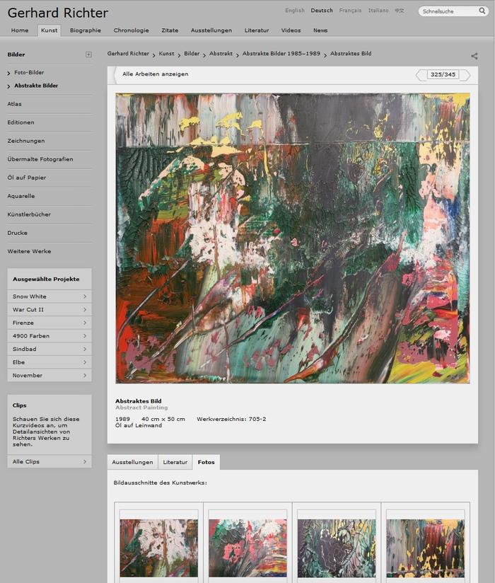 Gerhard Richter Bild Abstraktes Bild 705-2