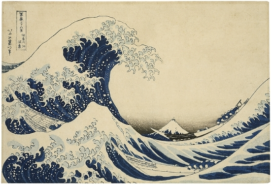 Katsushika Hokusai - Hinter der großen Woge vor Kanagawa
