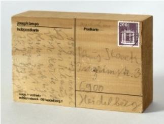Holzpostkarte Joseph Beuys