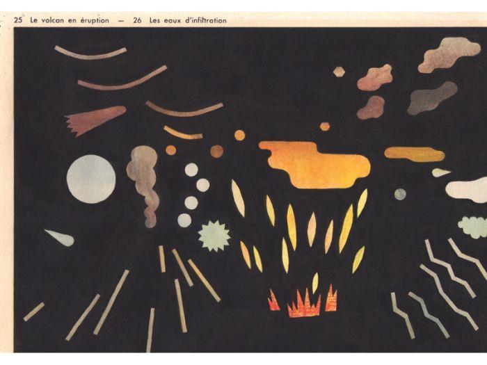 Jochen Gerner détail de Le volcan en éruption