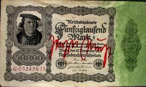 Joseph Beuys Banknote 50.000 Mark