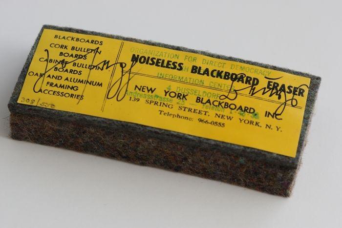 Joseph Beuys Noiseless Blackboard Eraser