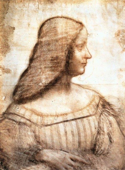 Leonardo Da Vinci Zeichnung von Isabella d'Este
