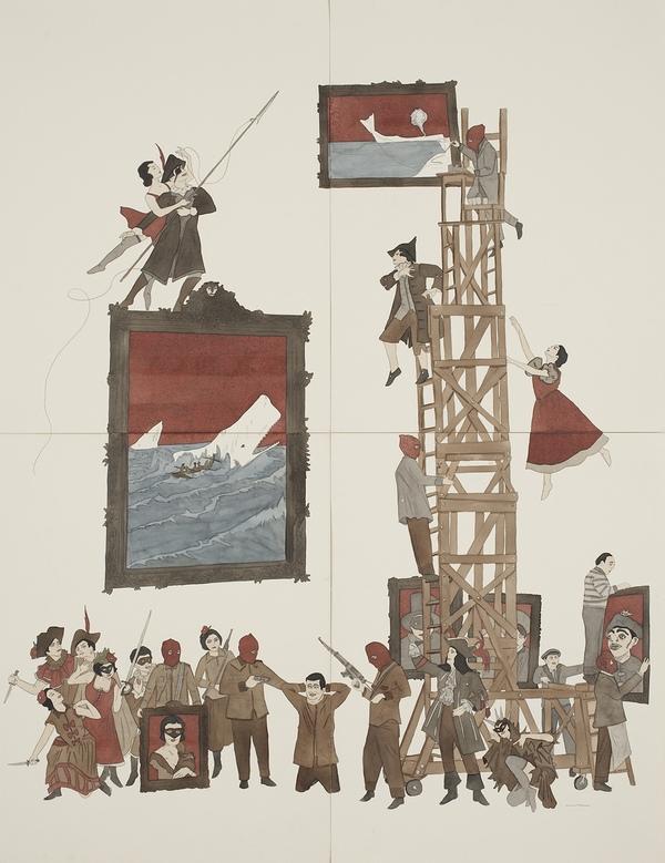 Marcel Dzama Zeichnung - Collection Guerlain