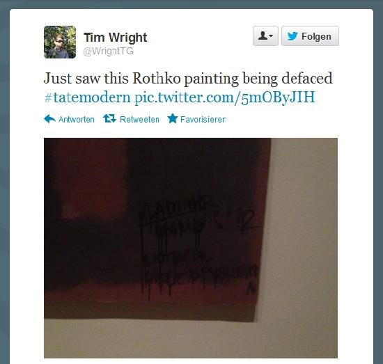 Mark Rothko Gemälde in der Tate beschmiert