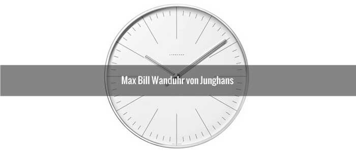 Max Bill Wanduhr