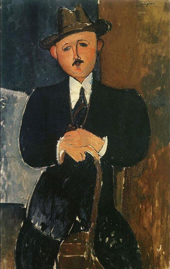 Amedeo Modigliani Sitzender Mann