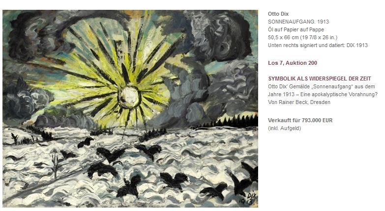 Otto Dix Sonnenaufgang