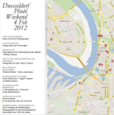 Karte Düsseldorf Photo Weekend Map