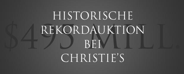 Christie's Rekordauktion contemporary art