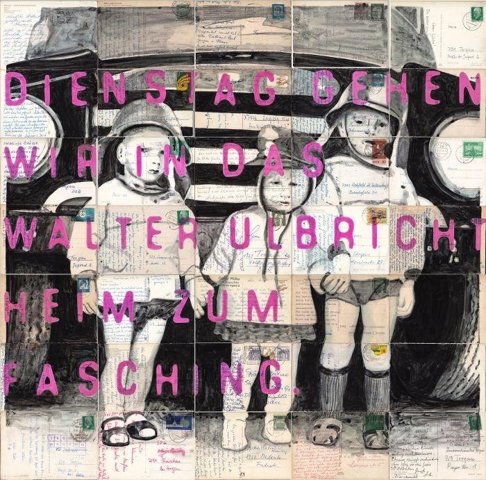 Roland Stratmann Postkarten Zeichnung