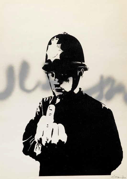 Banksy Rude Copper