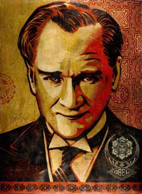 Shepard Fairey - Mustafa Kemal Ataturk