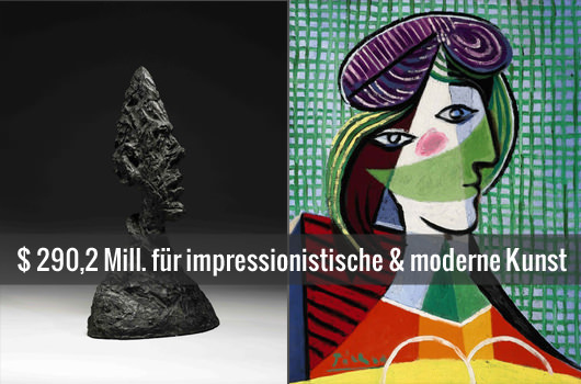 Sotheby's Auktion mit Giacometti & Picasso