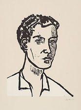 Stephan Balkenhol, original Holzschnitt, handsigniert