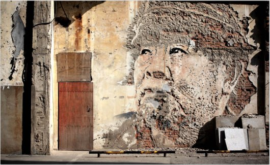 Vhils  MoSA Screenshot Google Street Art Project