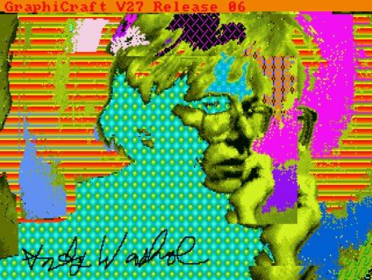 Warhol digitale Zeichnungen auf Diskette