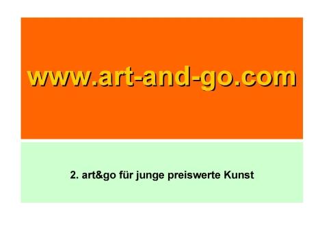 2. art&go für junge preiswerte Kunst