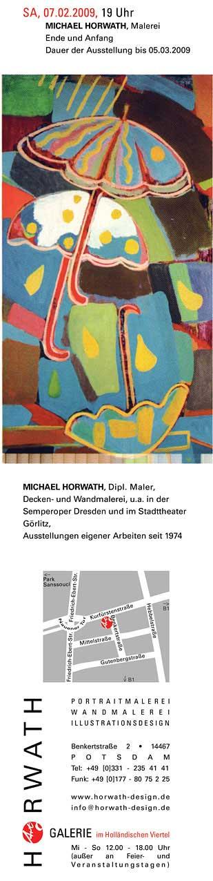 "Galerie HORWATH Potsdam Michael Horwath ""Ende und Anfang"",Malerei 07.02.,19 Uhr"