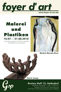 Malerei und Plastiken   Bärbel Navab-Pour und Karin Lamp