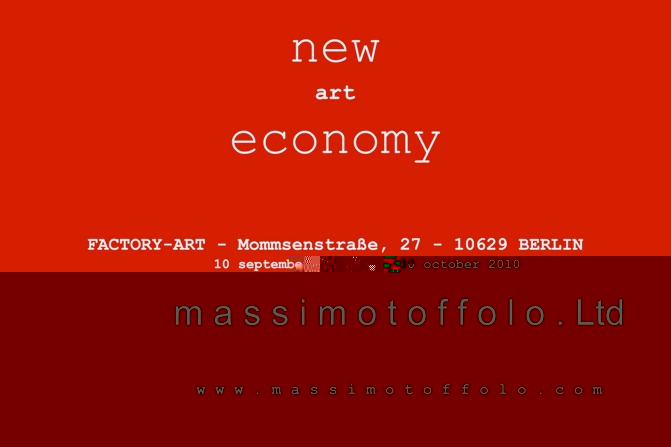 New (art) economy - Massimo Toffolo Ltd.