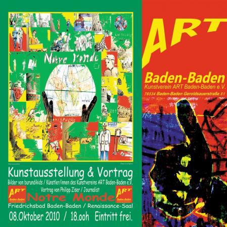 Kunstausstellung & Vortrag  am 8.10.2010  ab 18.00h  Friedrichsbad Baden-Baden Renaissonce-Saal