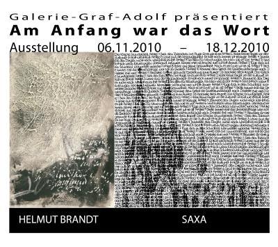 """Ausstellung """"Am Anfang war das Wort - Wortmalerei von Helmut Brandt und SAXA"""""""