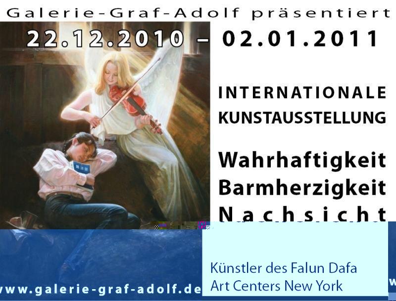 """Ausstellung """"Die Kunst von Wahrhaftigkeit Barmherzigkeit Nachsicht"""" Galerie-Graf-Adolf 22.12.2010-02"""