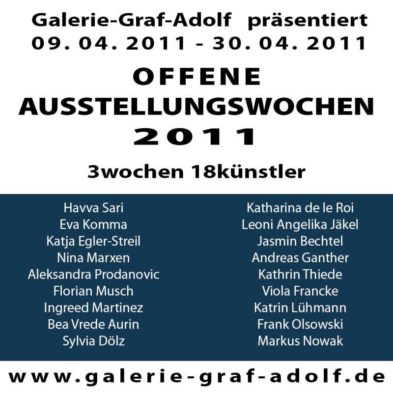 Offene Ausstellungswochen 2011 in der Galerie-Graf-Adolf vom 09.04.2011-30.04.2011