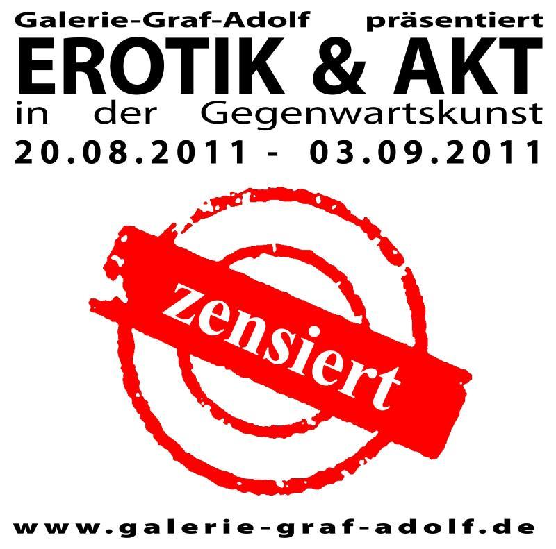 Ausstellung EROTIK & AKT in der Gegenwartskunst in der Galerie-Graf-Adolf