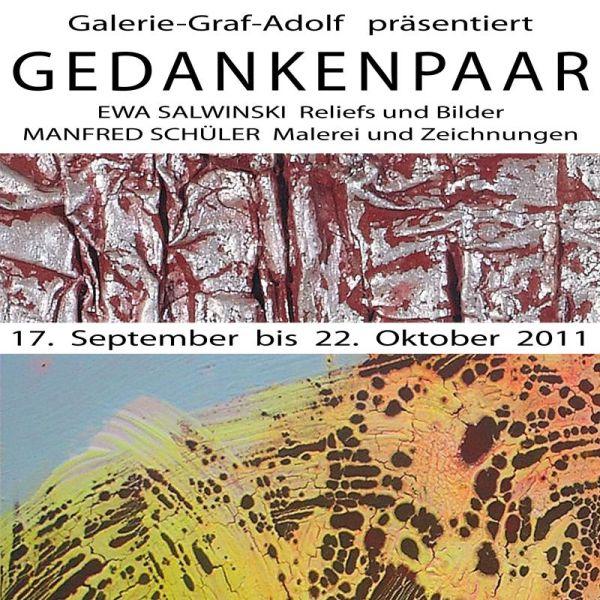 Finissage GEDANKENPAAR in der Galerie-Graf-Adolf am 22.10.2011  Ausstellung Koeln