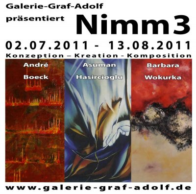 "Finissage ""Nimm 3"" am 13.08.2011 in der Galerie-Graf-Adolf Köln"
