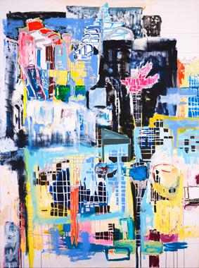 Space Hunter - Abstrakte Malerei von A. Cristofaro & Video von W. Bucher