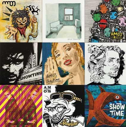 ONE ALBUM – HUNDREDS OF ARTWORKS: AMOS SHOWTIME