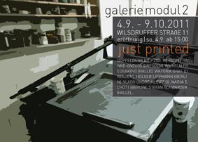 just printed Ausstellung Dresden
