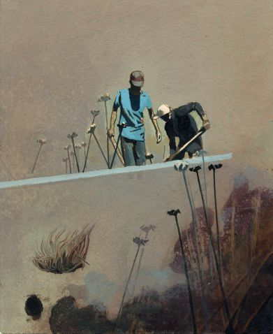 Ausstellung Erfurt Nabil El Makhloufi - Jasmin - Malerei