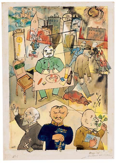 """George Grosz -  """"Deutschland, ein Wintermärchen""""  Ausstellung Hannover"""